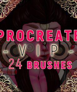 ergojosh vip brush set for procreate download download now brushes pack