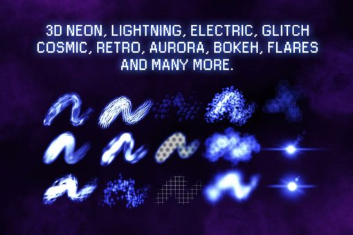 30 procreate glow brushes 12 download now brushes pack