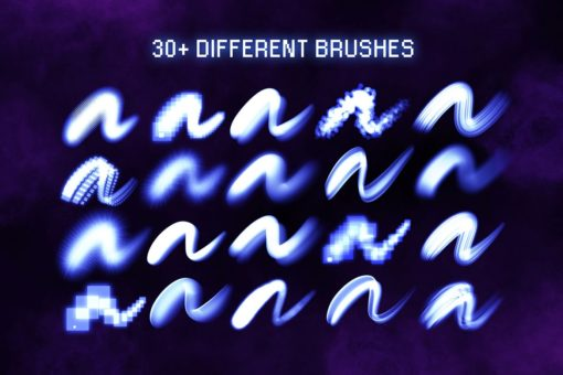 30 procreate glow brushes 7 download now brushes pack