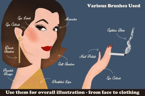 beauty brushes for procreate 1 download now brushes pack