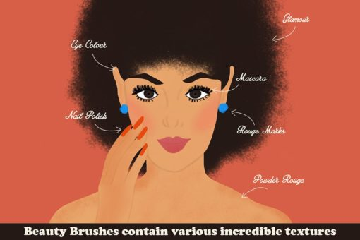 beauty brushes for procreate 5 download now brushes pack