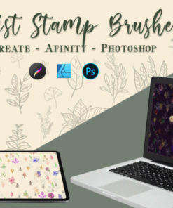 botanical stamp brushes graphics 6921798 2 580x387 download now brushes pack