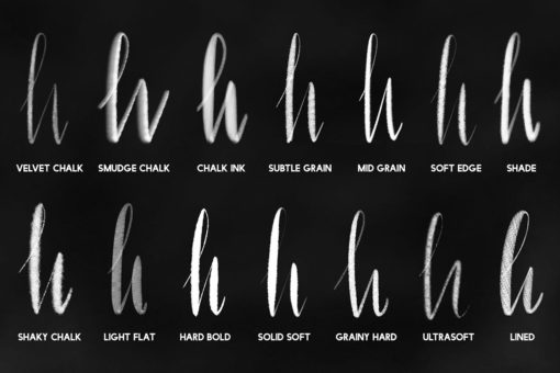 chalk letterer box for procreate 4 download now brushes pack