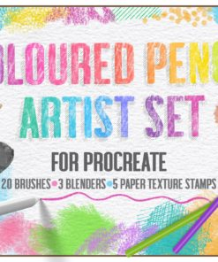 coloured pencil artist set for procreate sketchwerx cover download now brushes pack