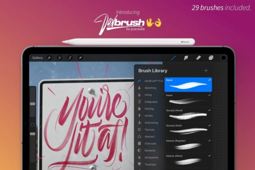 devbrush for procreate bundle 1 download now brushes pack