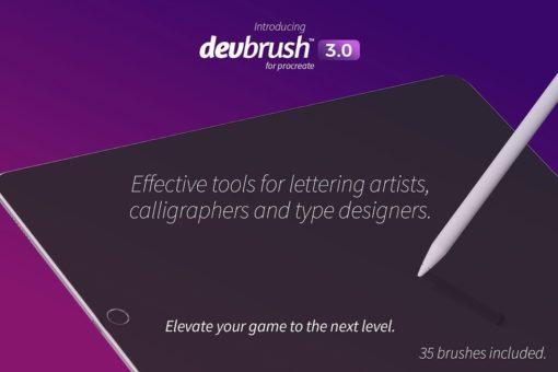 devbrush for procreate bundle 4 download now brushes pack
