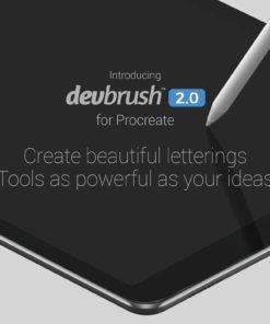 devbrush for procreate bundle 5 download now brushes pack