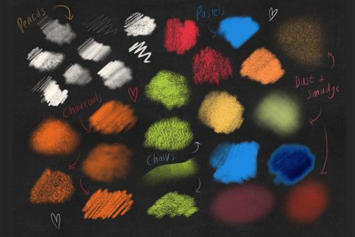 dry media pro charcoal and chalk procreate brushes 1 download now brushes pack