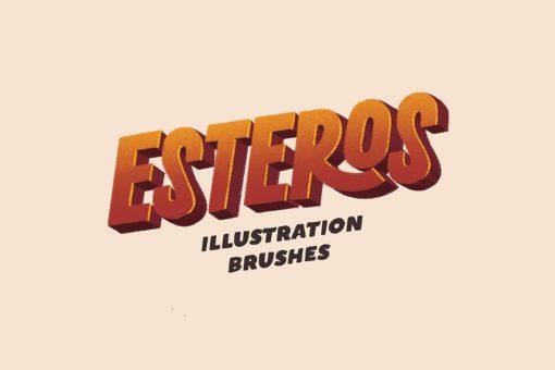 esteros procreate illustration brushes 3 download now brushes pack