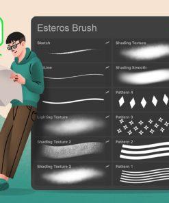 esteros procreate illustration brushes 4 download now brushes pack