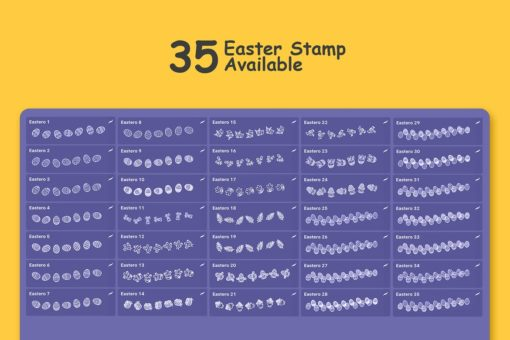 easter stamp procreate brushes 4 download now brushes pack