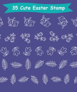 easter stamp procreate brushes 8 download now brushes pack