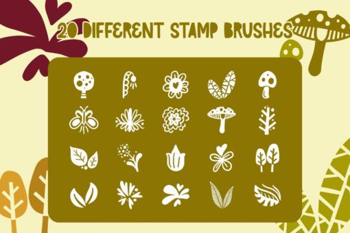 farmy 20 procreate stamp brush 1 download now brushes pack