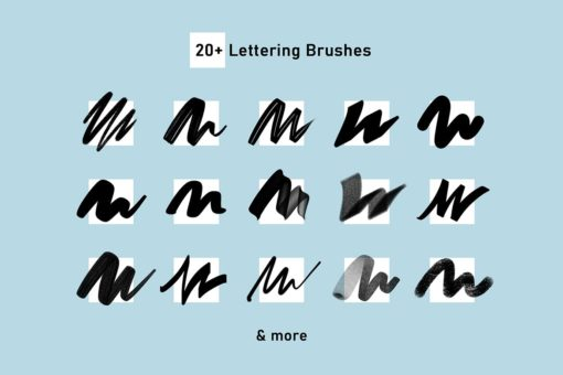 firstype procreate lettering brushes 2 download now brushes pack