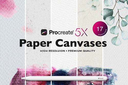 procreate paper texture canvases download now brushes pack