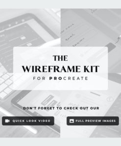 the wireframe kit for procreate 2 download now brushes pack