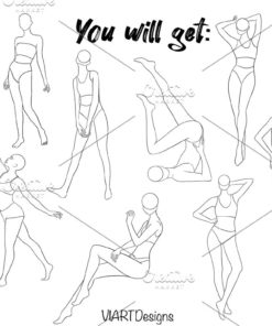 •30off sale•fashion bodypose stamps 1 download now brushes pack
