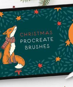100 christmas procreate brushes christmasprocreatebrushes intro download now brushes pack