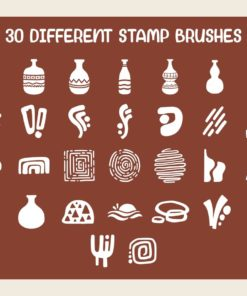 bohoism procreate stamp brush 1 download now brushes pack