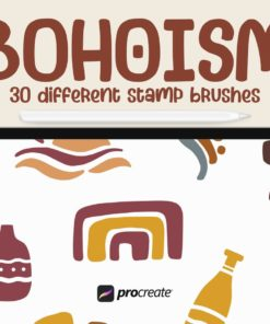 bohoism procreate stamp brush download now brushes pack