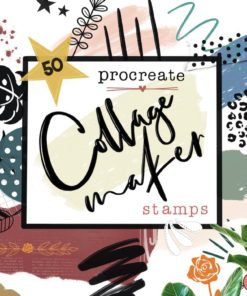 collage maker stamps procreate download now brushes pack