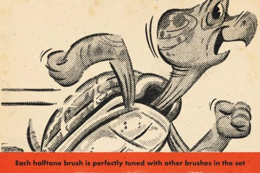 duplitone halftones for procreate 1 download now brushes pack