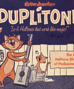 duplitone halftones for procreate download now brushes pack