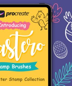 easter stamp procreate brushes download now brushes pack