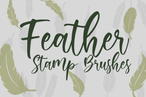 feather stamp brushes 1 download now brushes pack