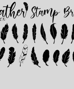 feather stamp brushes 3 download now brushes pack