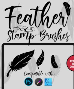 feather stamp brushes download now brushes pack