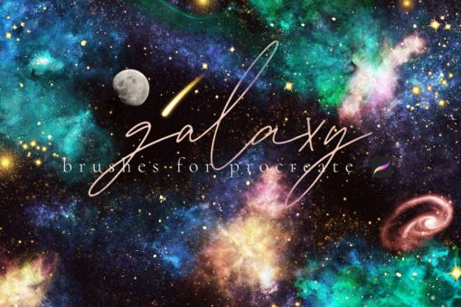 galaxy brushes for procreate 1 front page v1 download now brushes pack