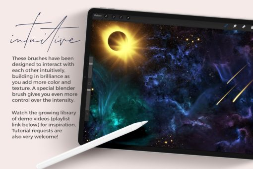 galaxy brushes for procreate intuitive download now brushes pack