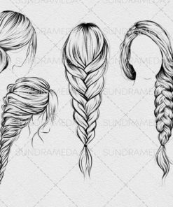 hairstyle ii stamp brushes procreate 1 download now brushes pack