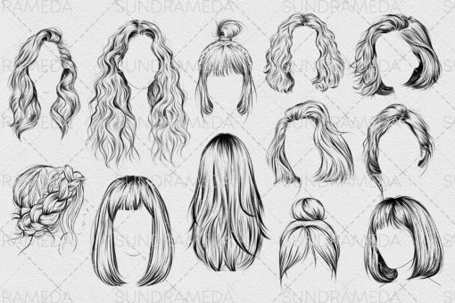 hairstyle ii stamp brushes procreate 2 download now brushes pack