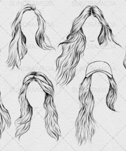 hairstyle ii stamp brushes procreate 3 download now brushes pack