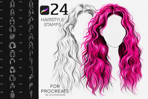 hairstyle ii stamp brushes procreate download now brushes pack