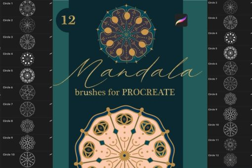 mandala brushes for procreate1 download now brushes pack