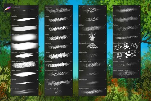 nature studio procreate brushes 1 download now brushes pack