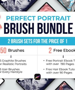 perfect portrait procreate brushes cover image download now brushes pack