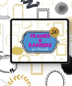 photo frame banner stamps download now brushes pack