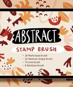procreate abstract shape stamp brushset download now brushes pack