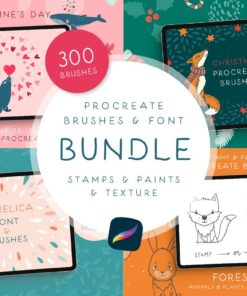 procreate brushes font bundle download now brushes pack