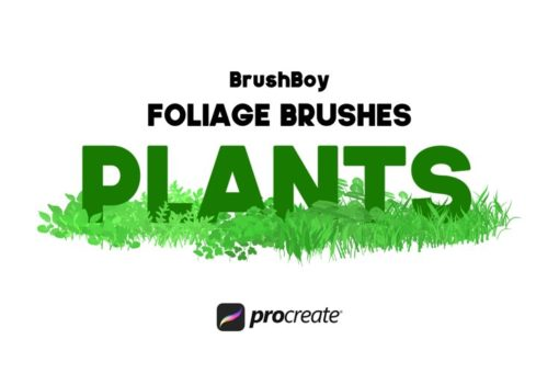 procreate foliage brushes plants download now brushes pack