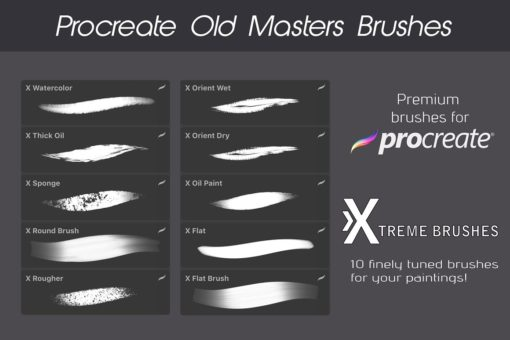 procreate texture brushes bundle 11 download now brushes pack