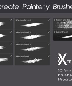 procreate texture brushes bundle 12 download now brushes pack