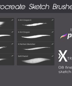 procreate texture brushes bundle 2 download now brushes pack