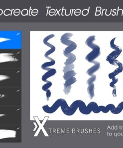 procreate texture brushes bundle 5 download now brushes pack