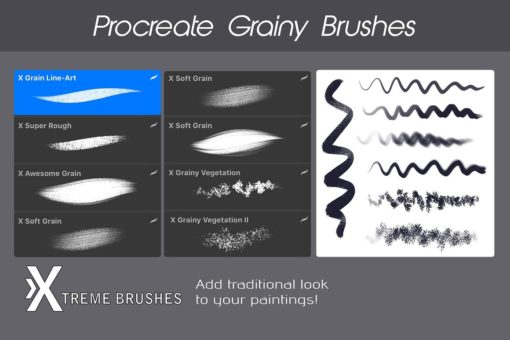 procreate texture brushes bundle 9 download now brushes pack