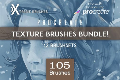 procreate texture brushes bundle download now brushes pack
